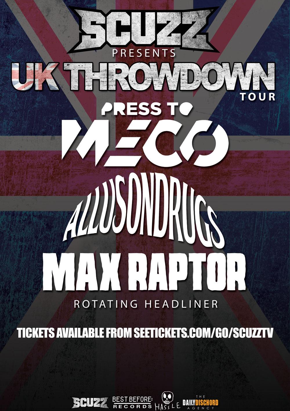 SCUZZ PRESENTS UK THROWDOWN TOUR 2016