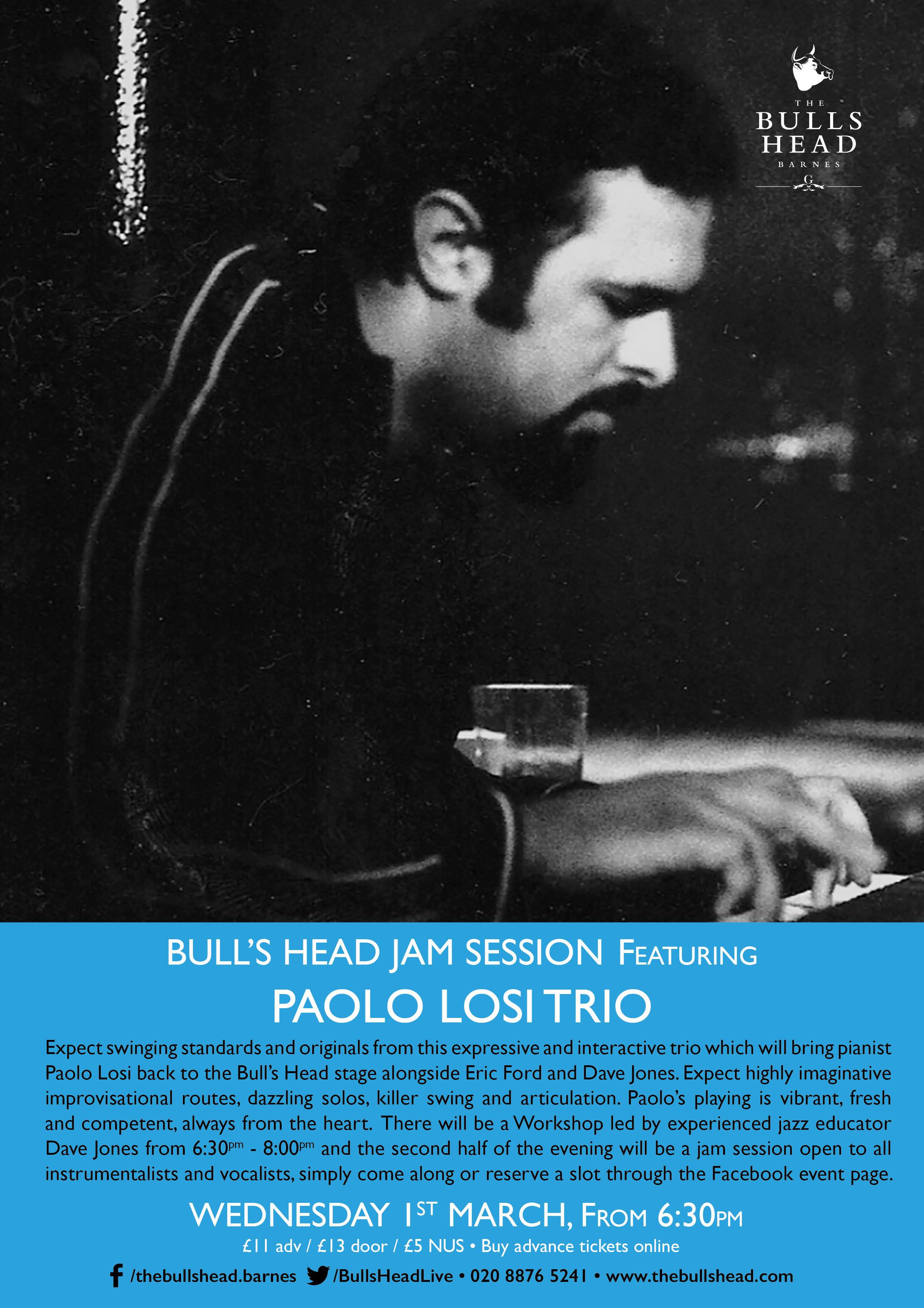 Bull's Head Jam Session ft. Paolo Losi Trio