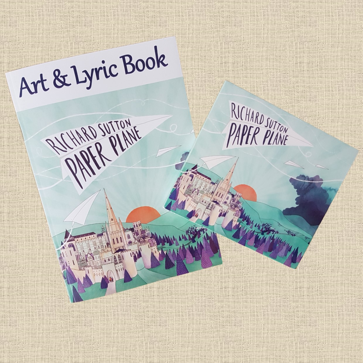 Paper Plane CD + Art & Lyric Book - RICHARD SUTTON
