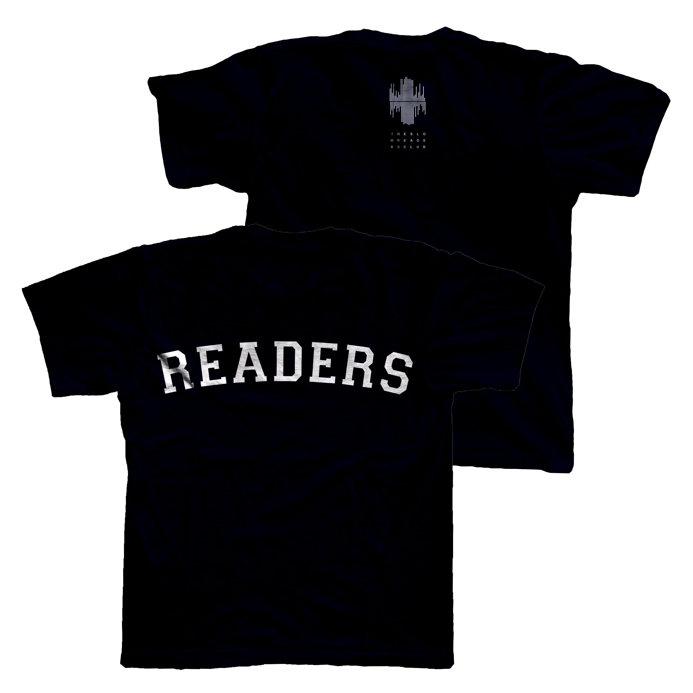 READERS T-Shirt - Black - The Slow Readers Club