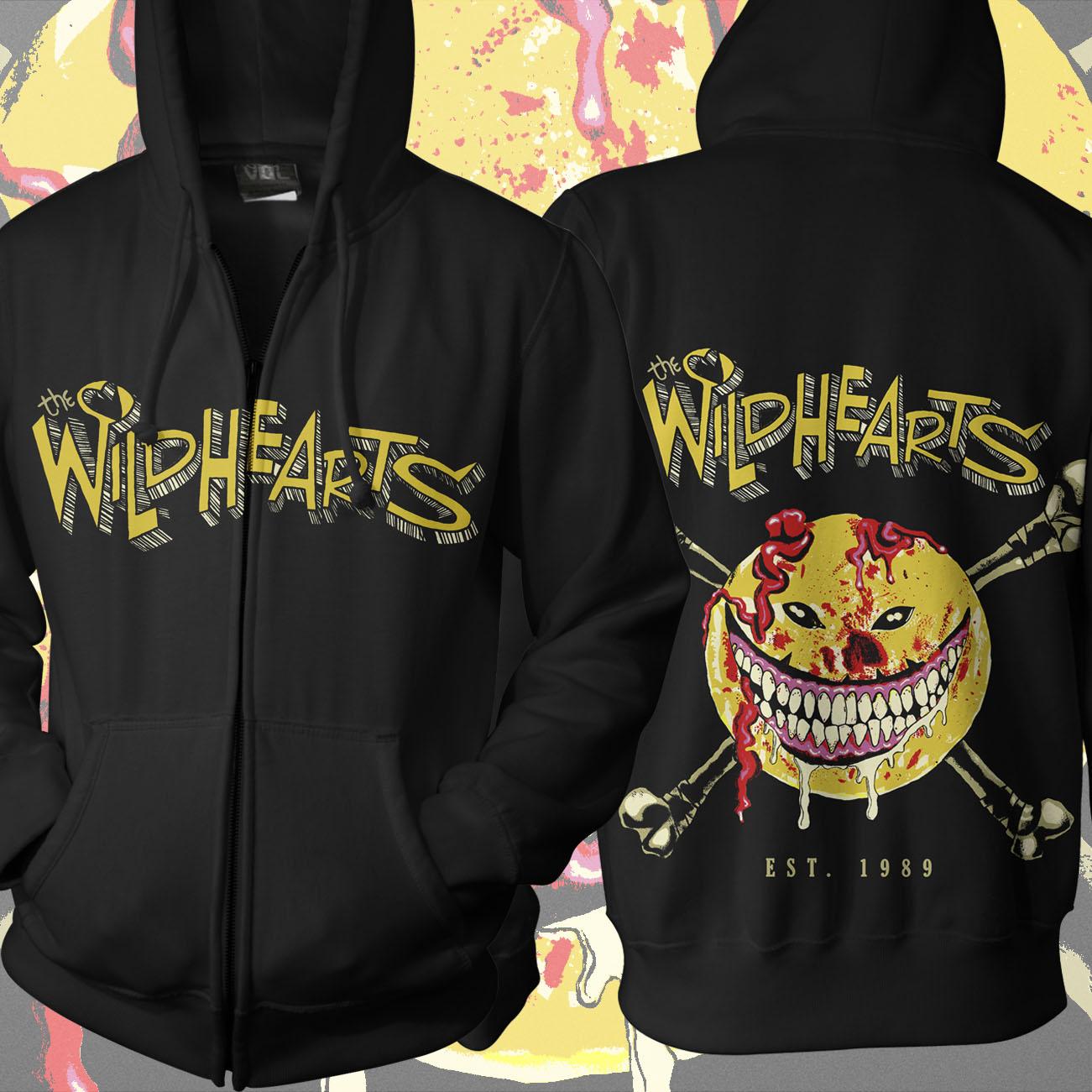 The Wildhearts - 'Smiley' Zip Hoody - The Wildhearts