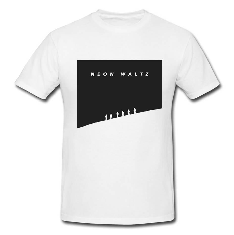 Strange Hymns -  White T-shirt - Neon Waltz