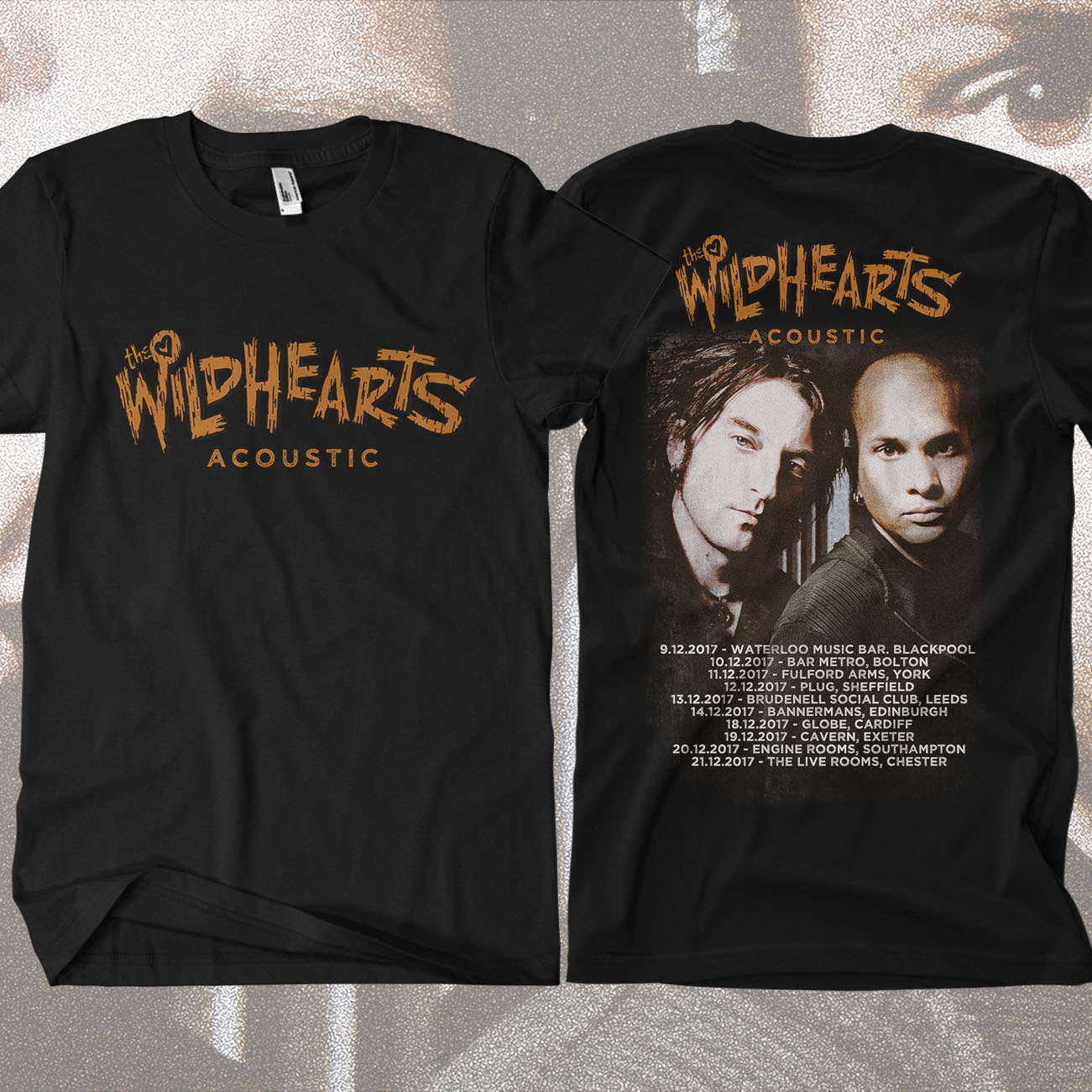 The Wildhearts - 2017 Acoustic Tour Shirt - The Wildhearts