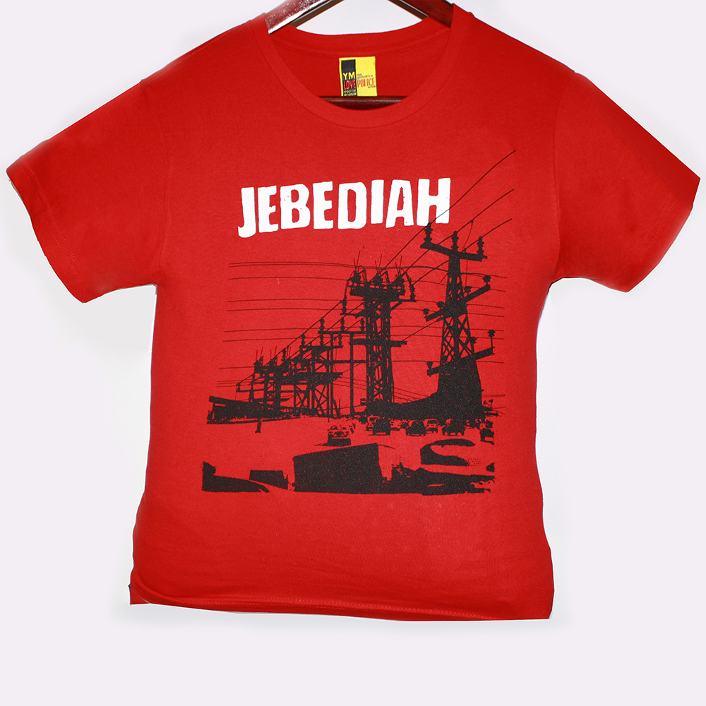 Power Lines - Red T-Shirt (Youth Sizes) - Jebediah