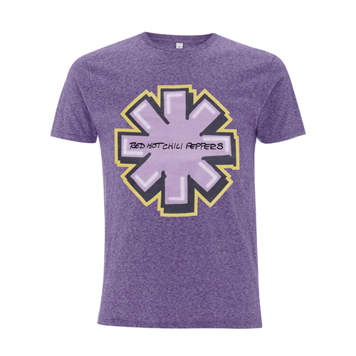 Graffiti Asterisk – Melange Purple Tee - Red Hot Chili Peppers
