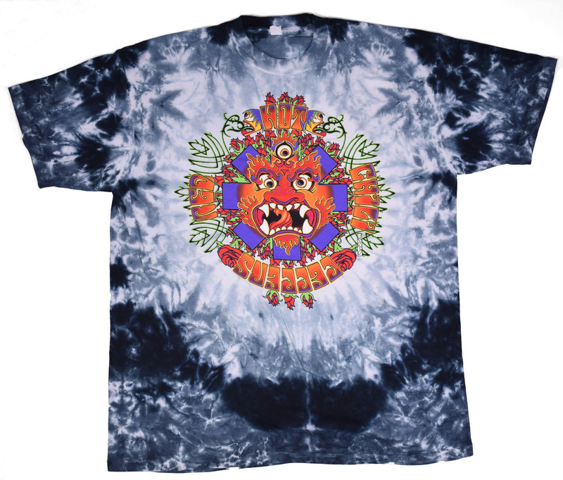 Deity - Grey/White Tie Dye Tee - Red Hot Chili Peppers