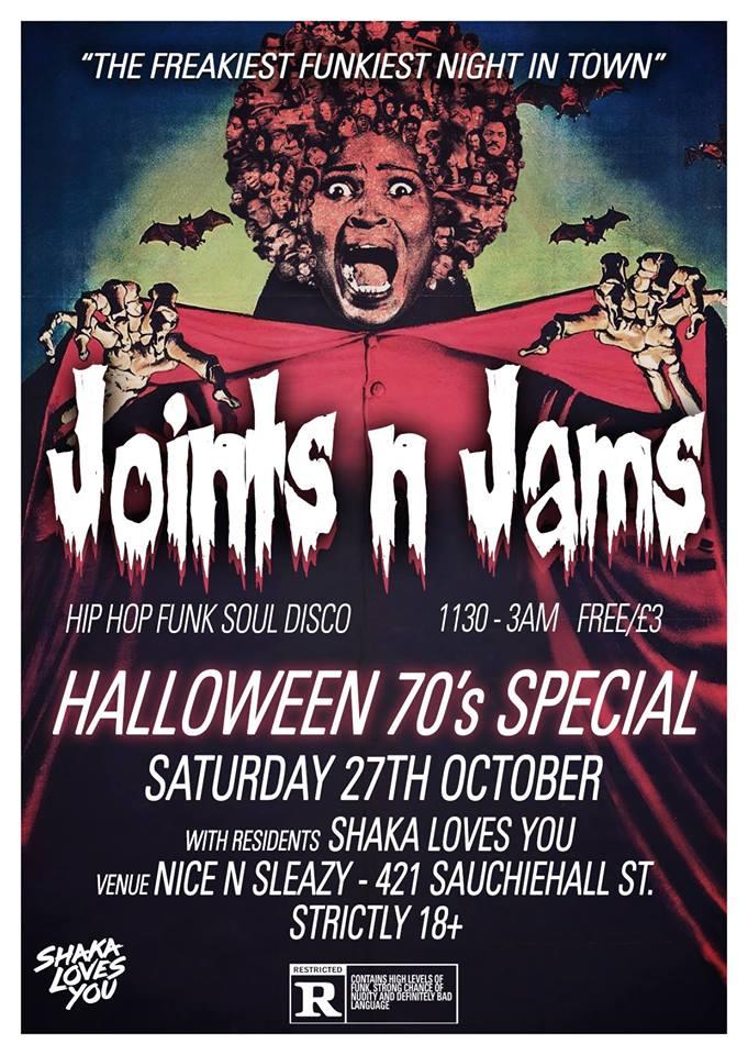 Shaka Loves Halloween! at Nice N Sleazy, Glasgow on 27 Oct 2018