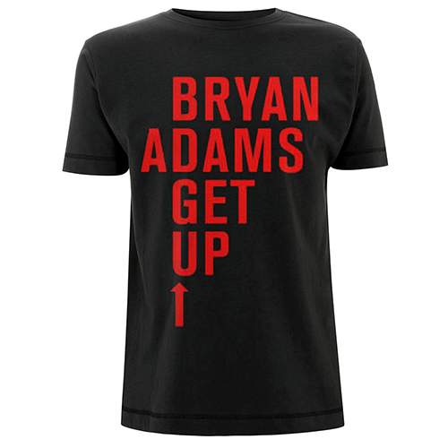 Bold Up (UK & Europe 2016) - Black Tee - Bryan Adams