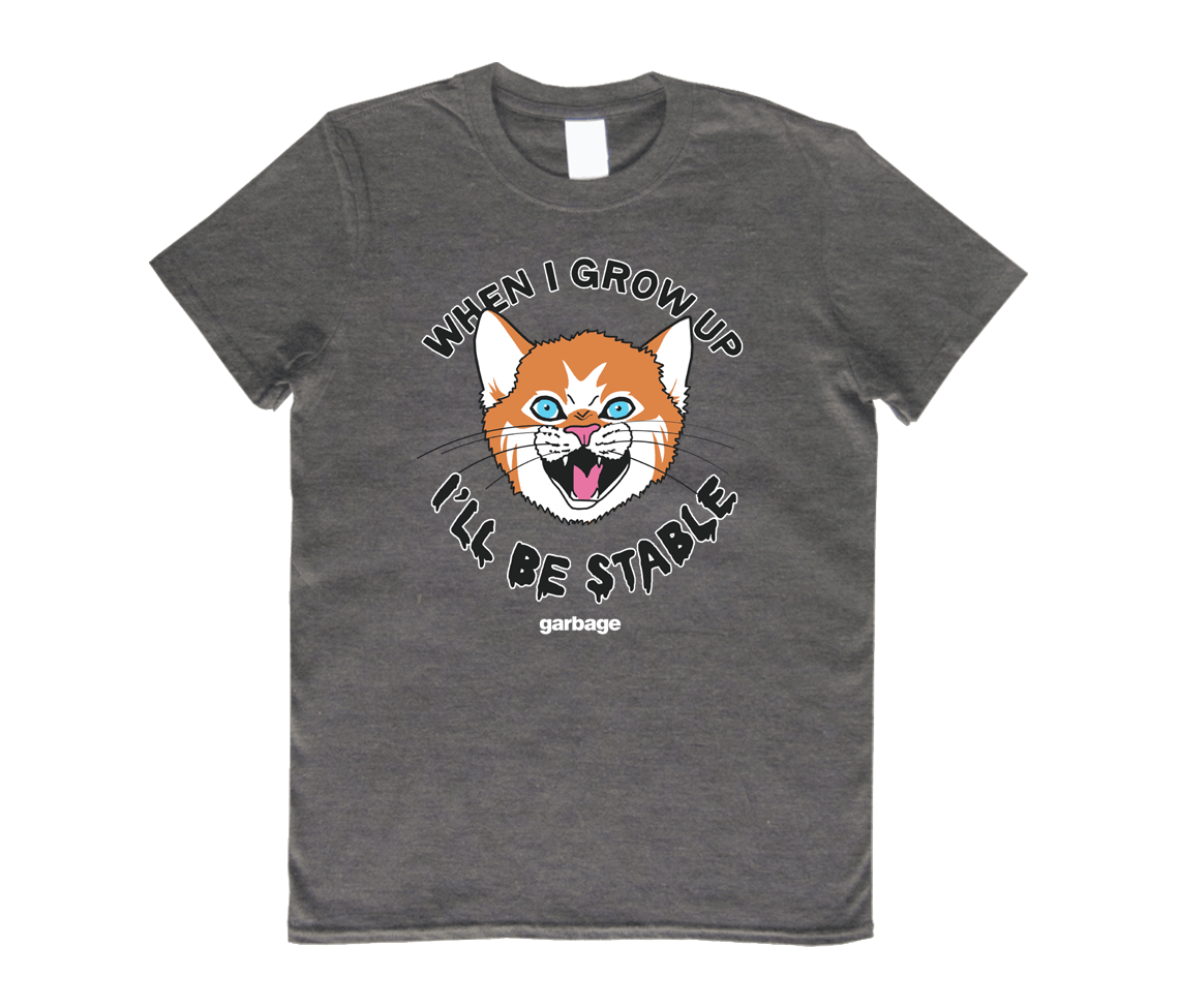Stable Cat T-Shirt - Deep Heather - Garbage