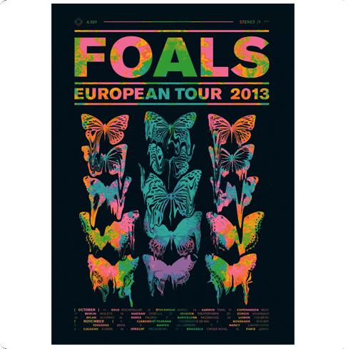 European Tour Poster 2013 - Foals