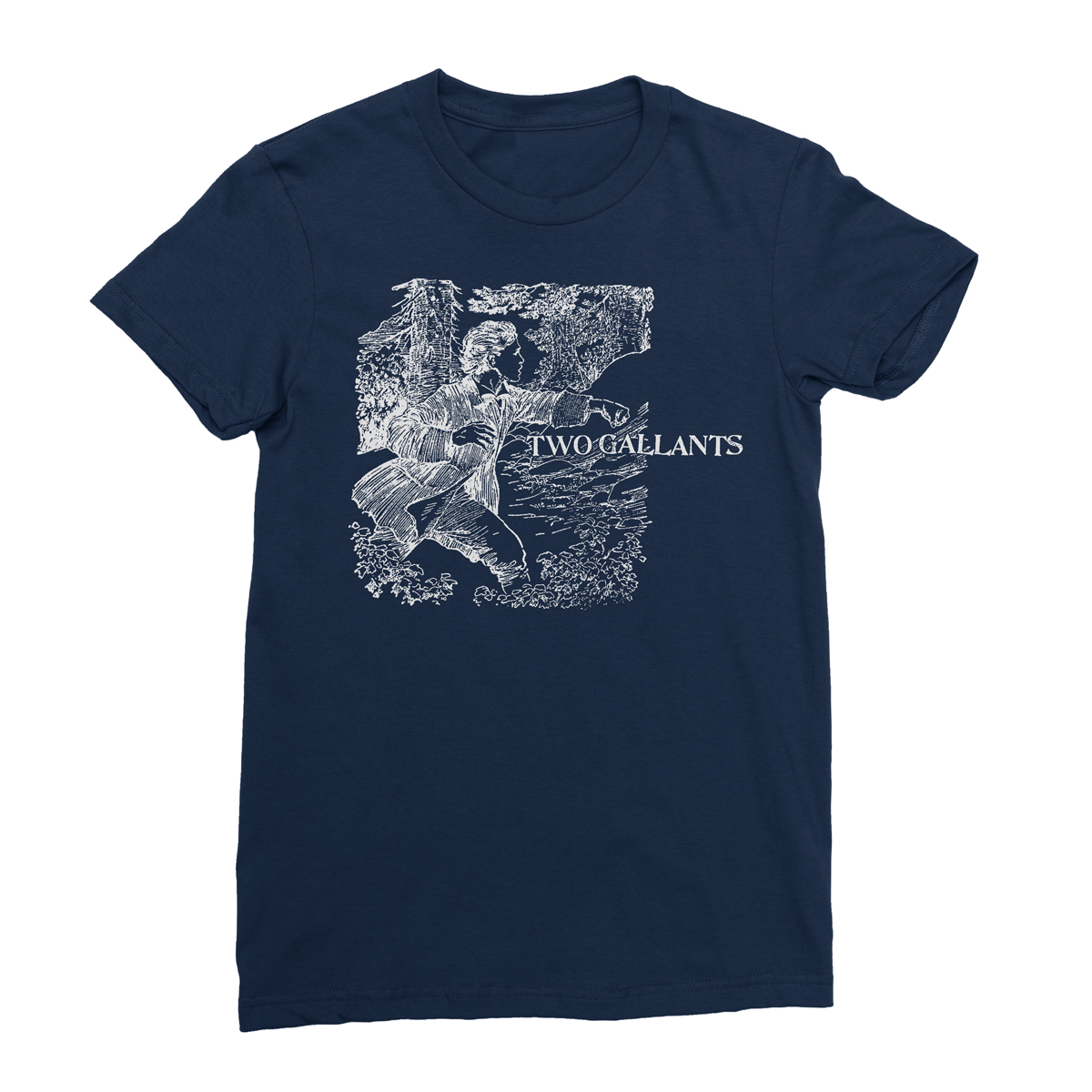 Forest/Throes Tee - Navy - Two Gallants