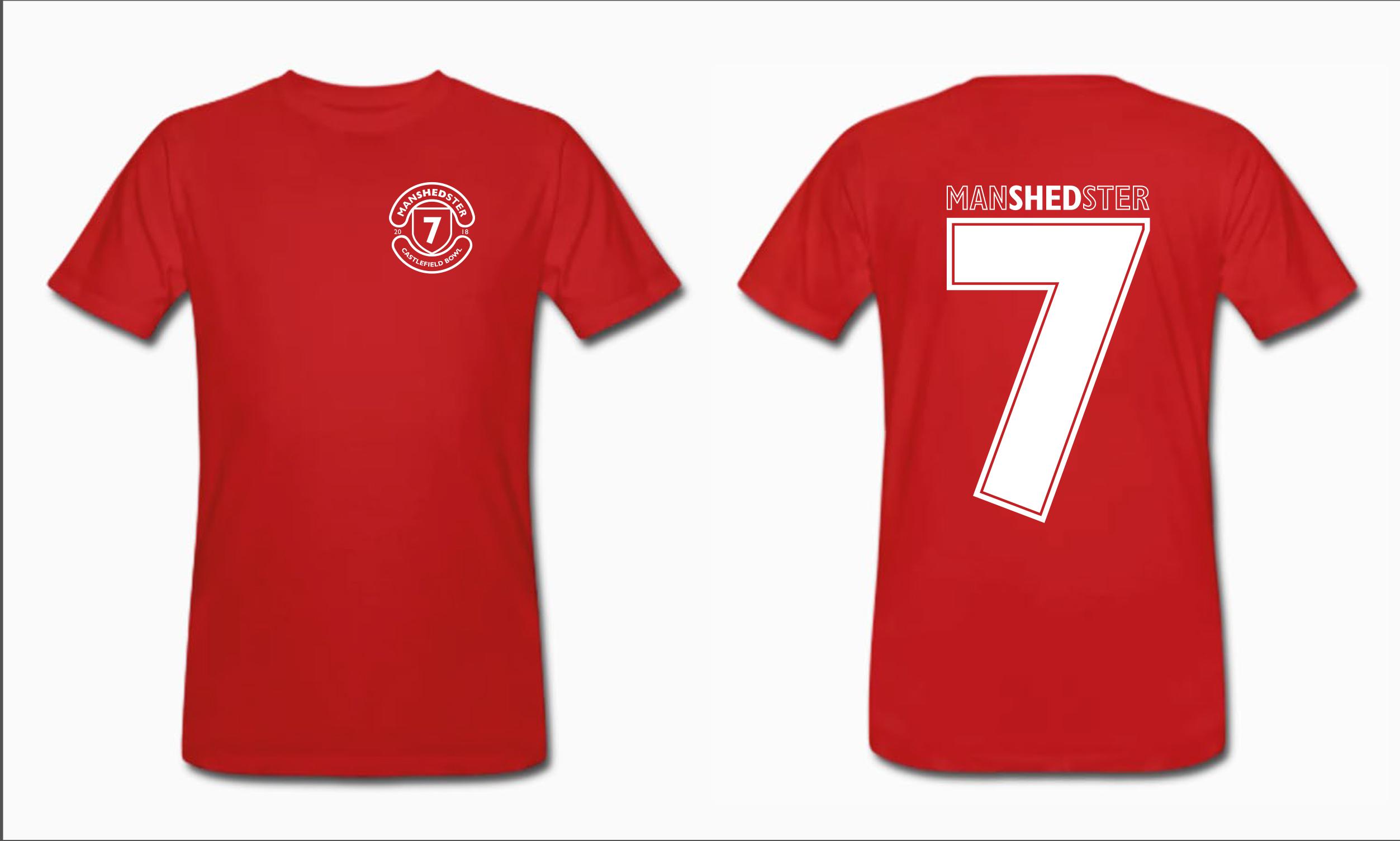 Manshedster United T-Shirt - Shed Seven