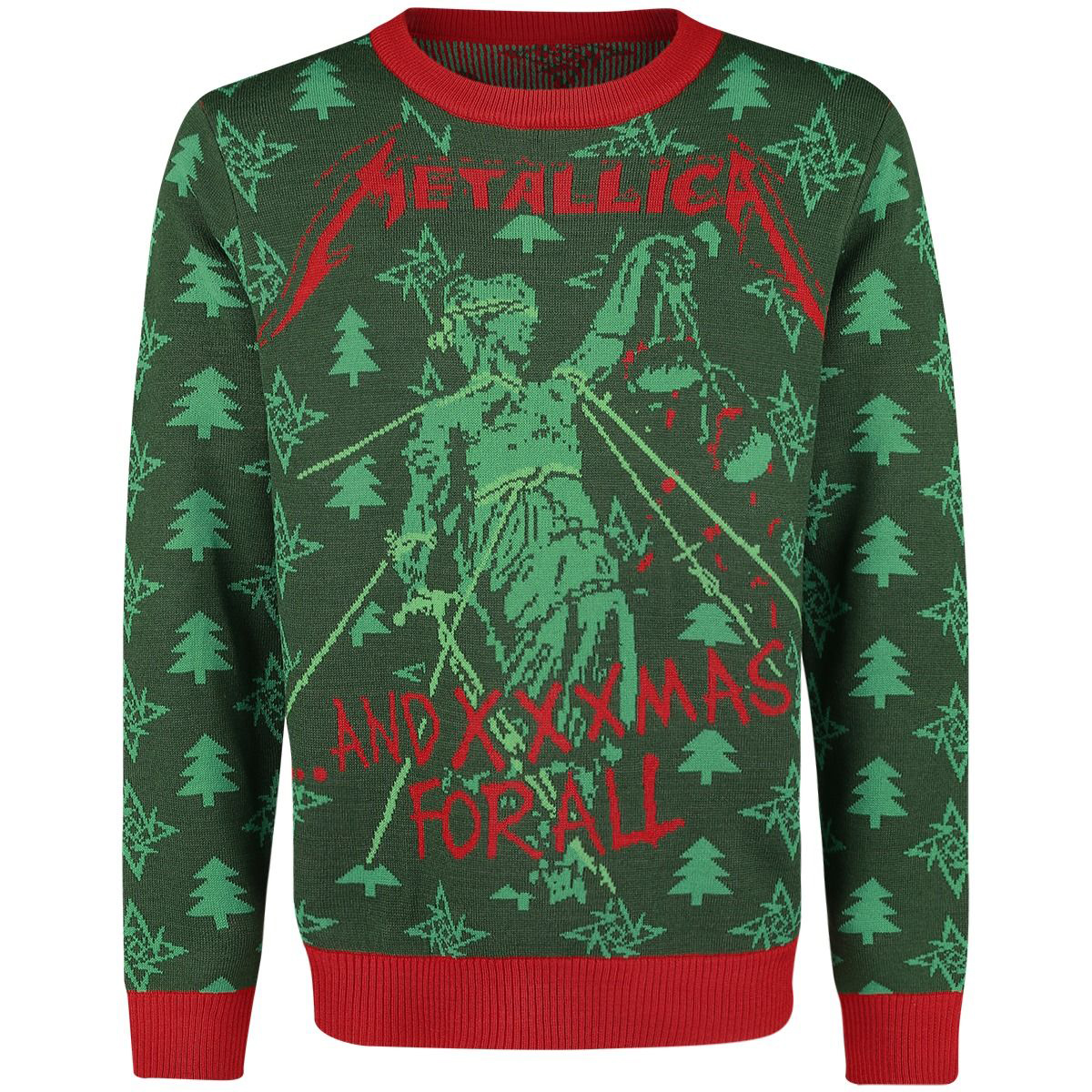 And XXXMAS For All – Knitted Christmas Jumper - Metallica