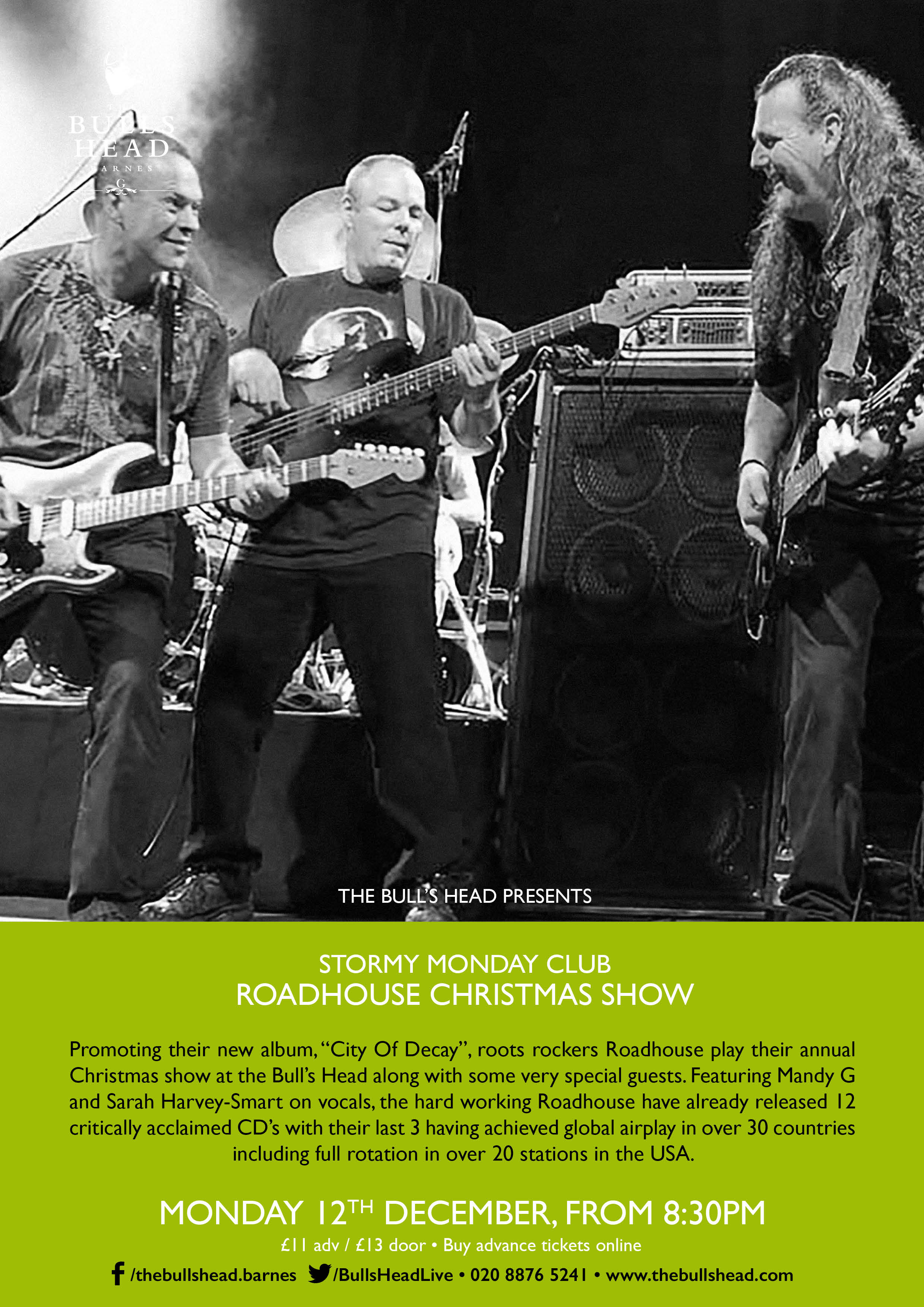 Stormy Monday Club Present the Roadhouse Xmas Show