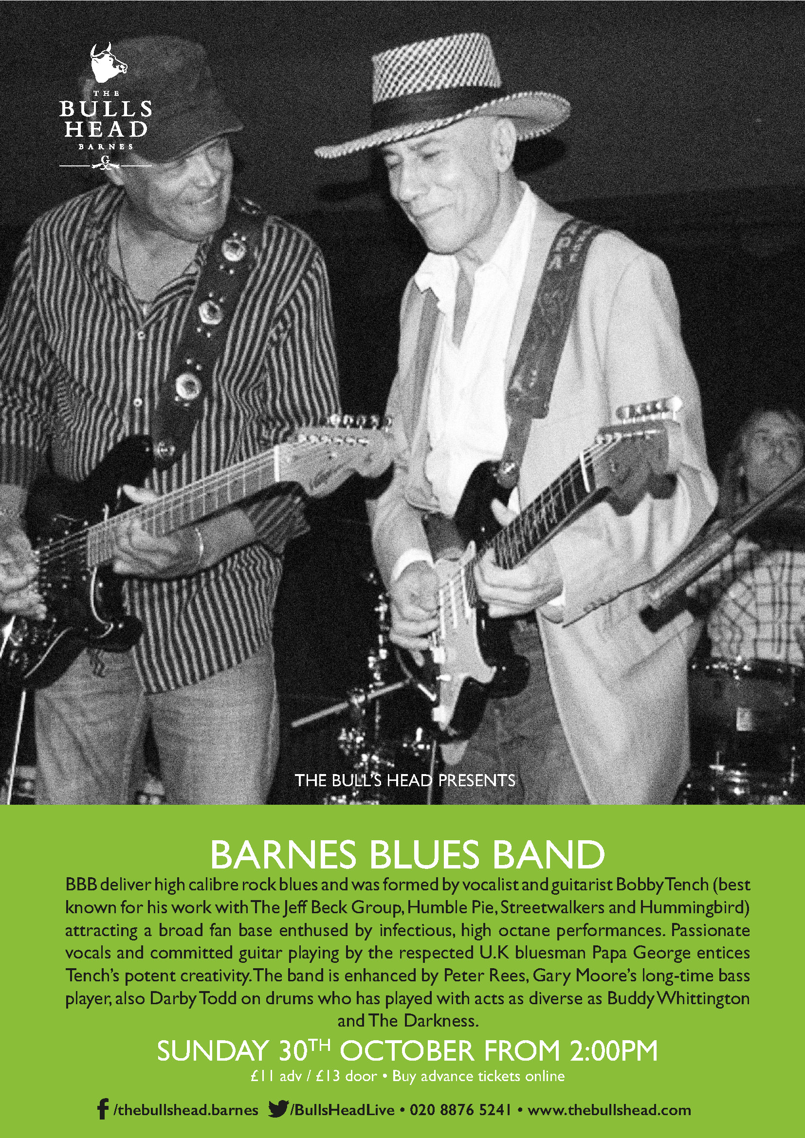 Barnes Blues Band Play the Sunday Lunch Session