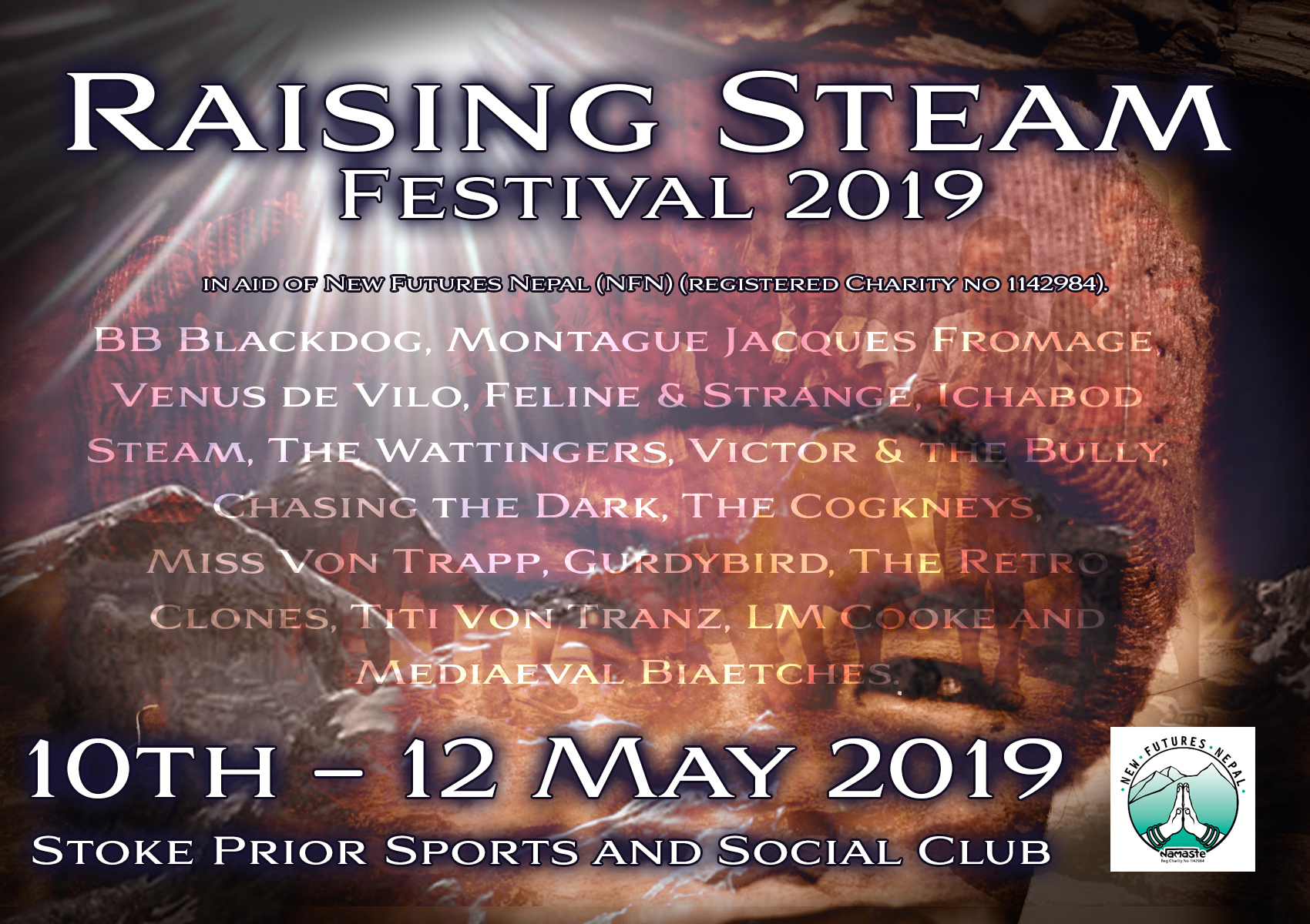 Raising Steam Festival 2019 at Stoke Prior Sports and
