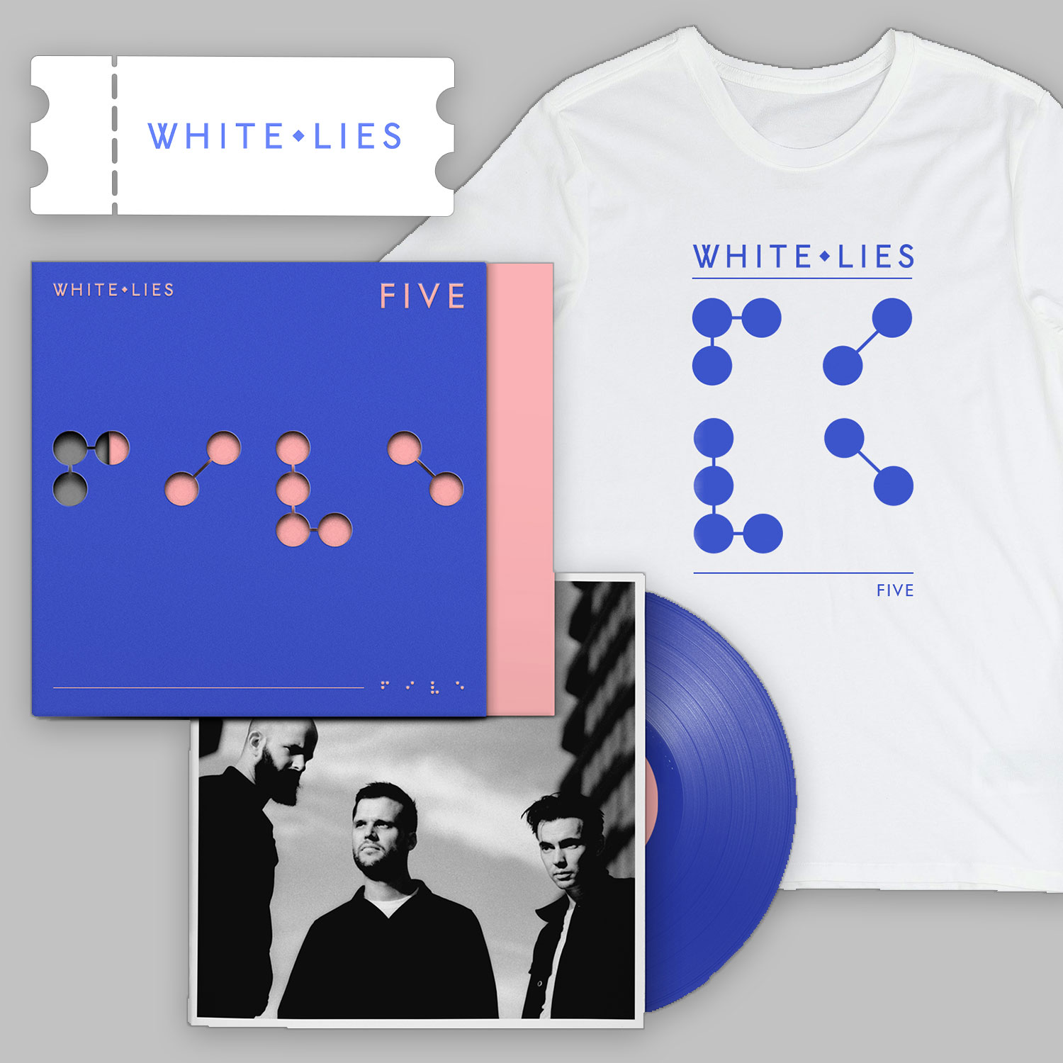 Album + T-shirt + Ticket Bundle - White Lies