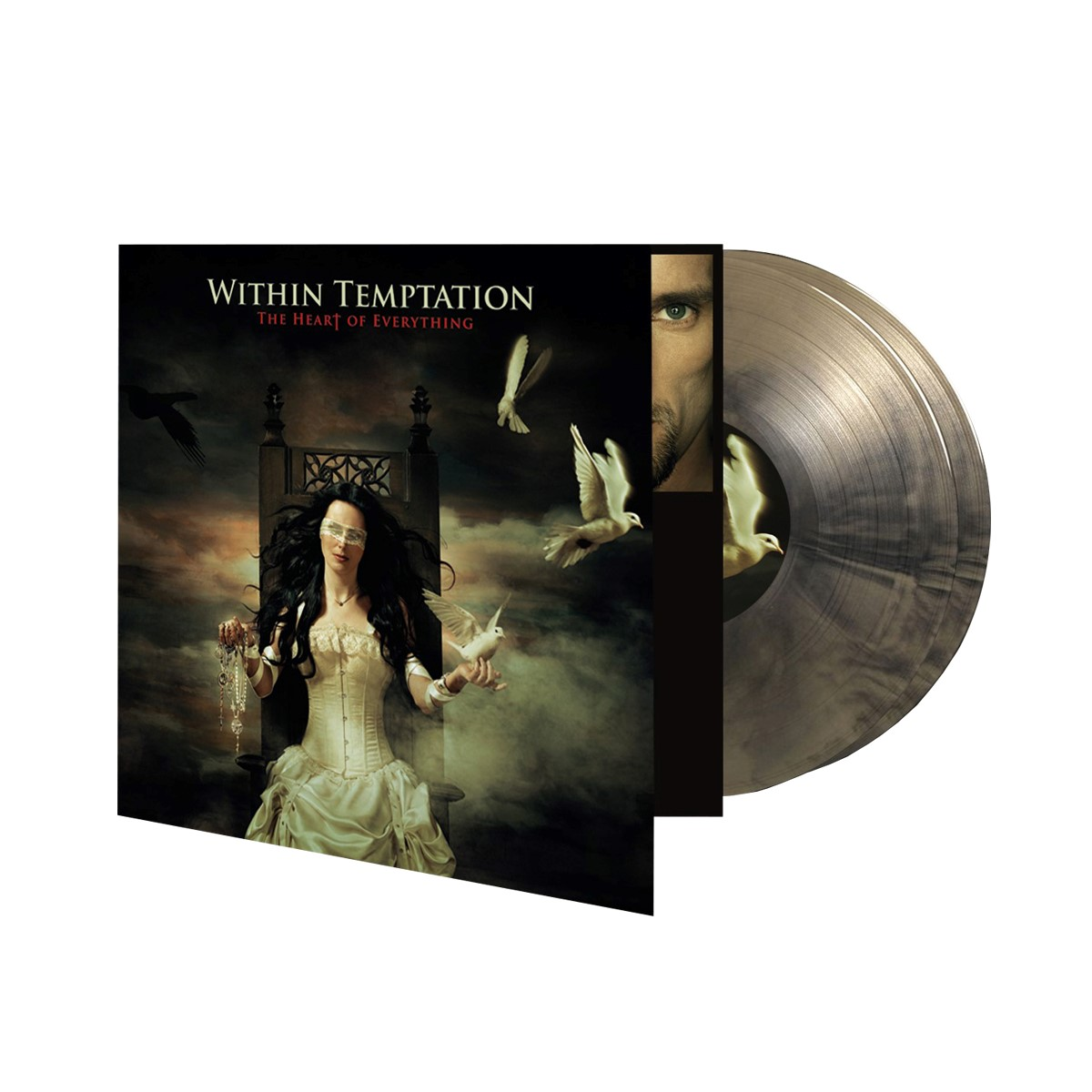 The Heart Of Everything – Limited Edition Numbered Gold & Black Swirl Double Vinyl - Within Temptation