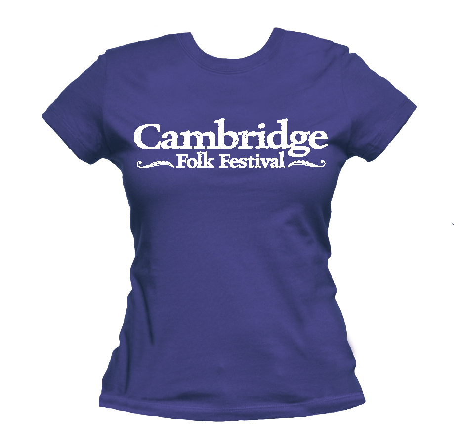 Ladies Cambridge Folk T-shirt (Indigo) - Cambridge Folk Festival