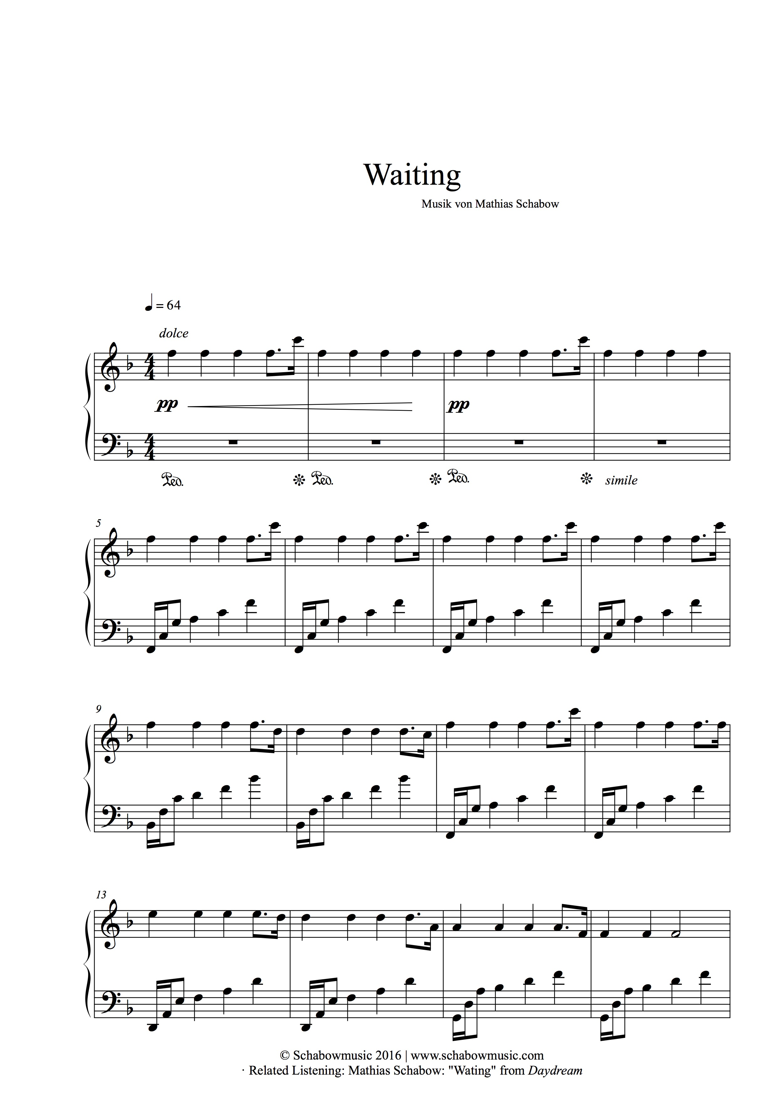 Waiting - Mathias Schabow | Piano
