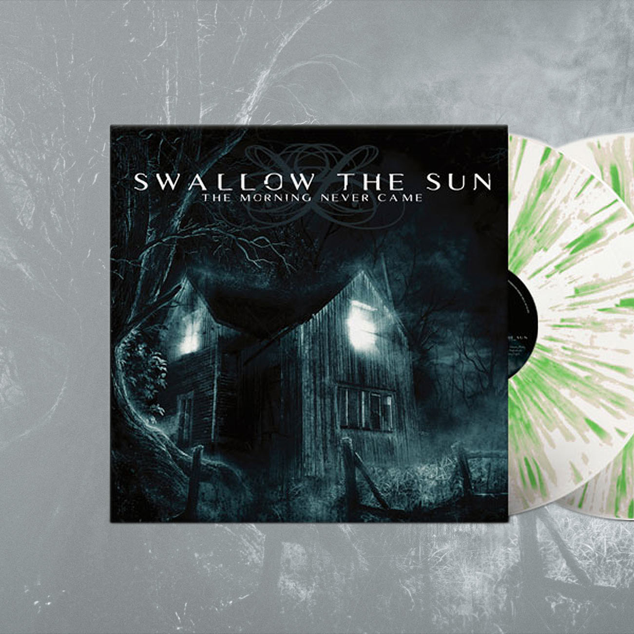 Swallow The Sun  - 'The Morning Never Came' White/Grey/Green Splatter 2LP - Swallow The Sun