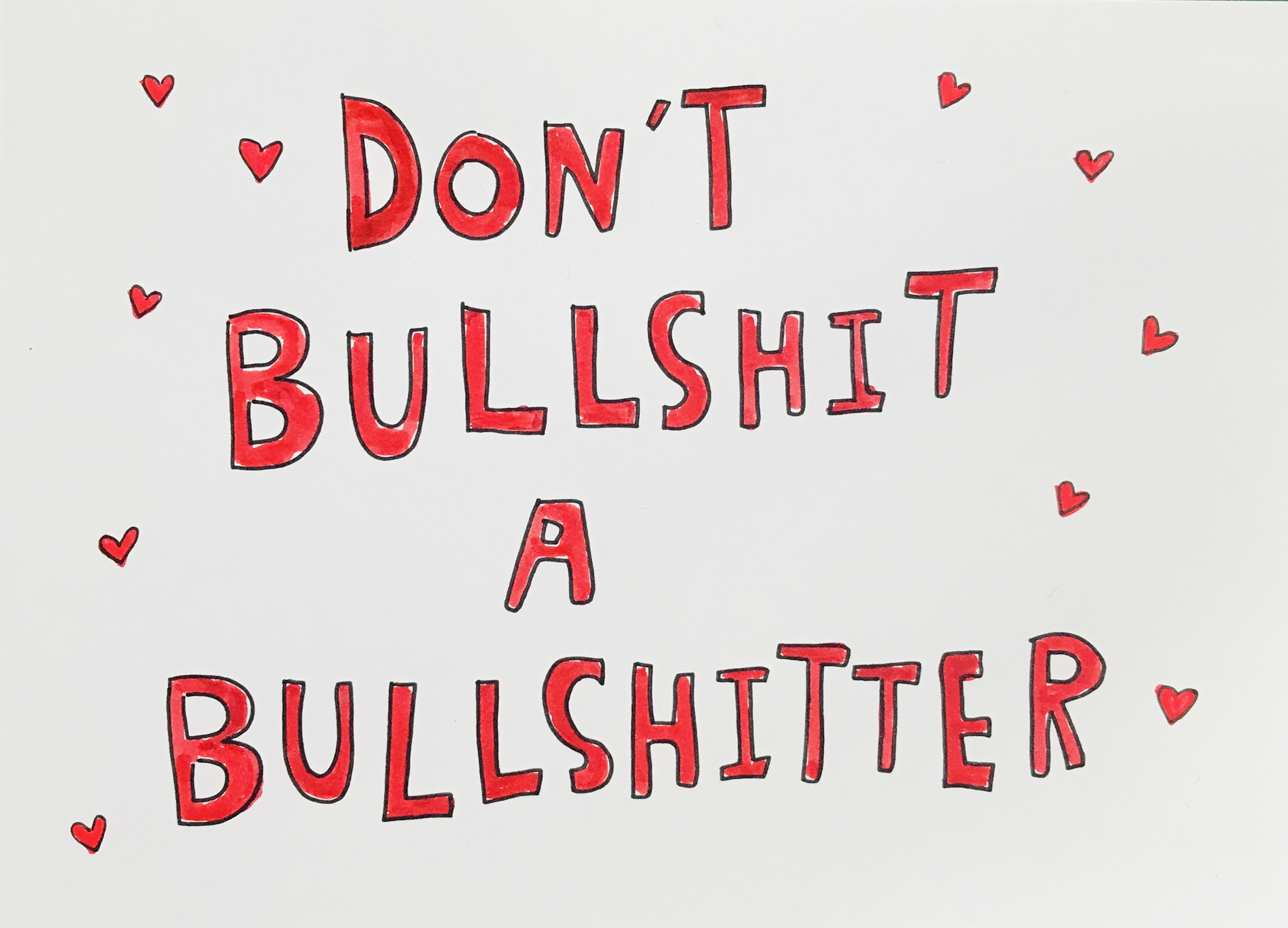 BULLSHIT PRINT - Jessie Cave