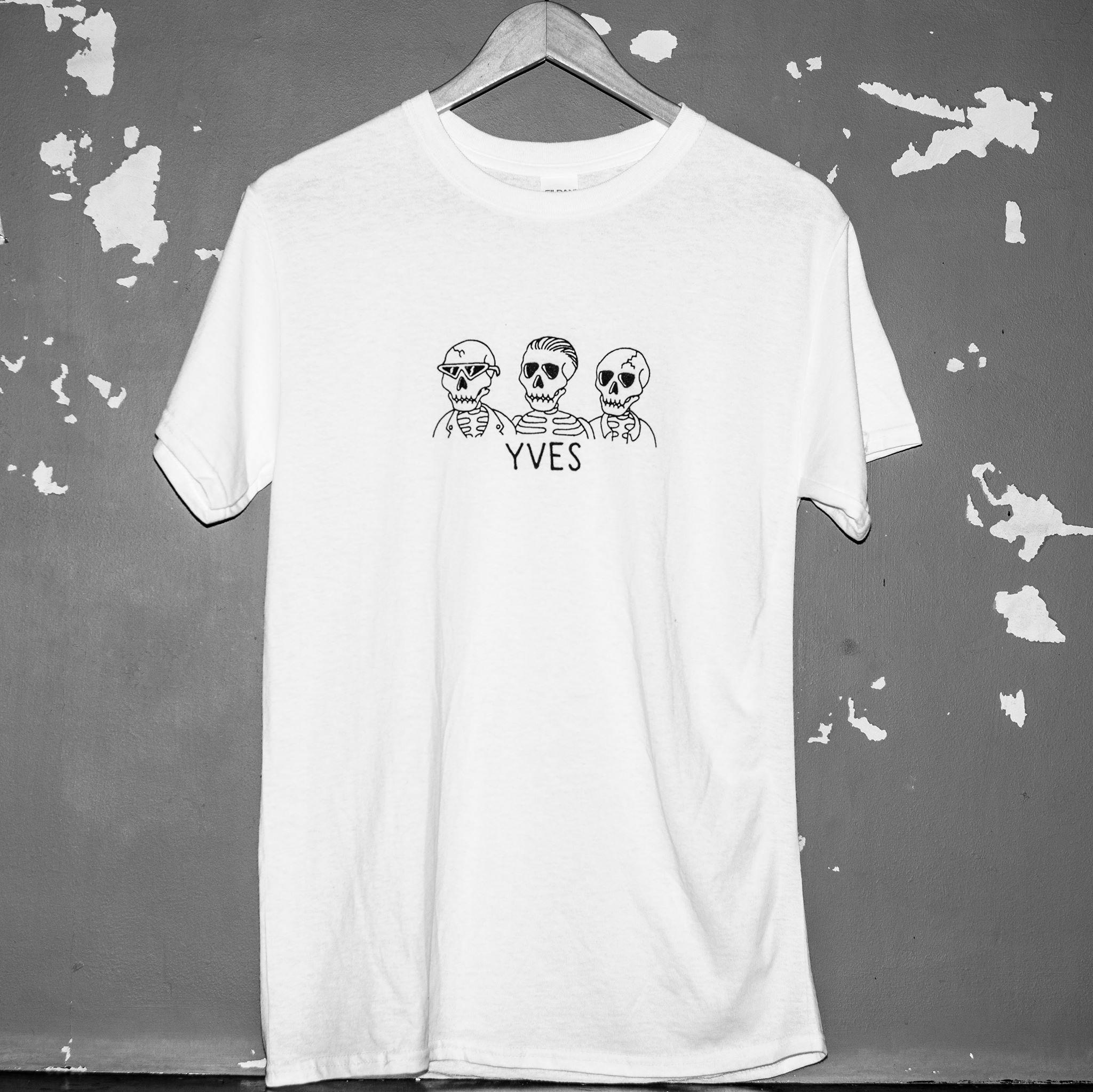 YVES White Skulls T-shirt - YVES
