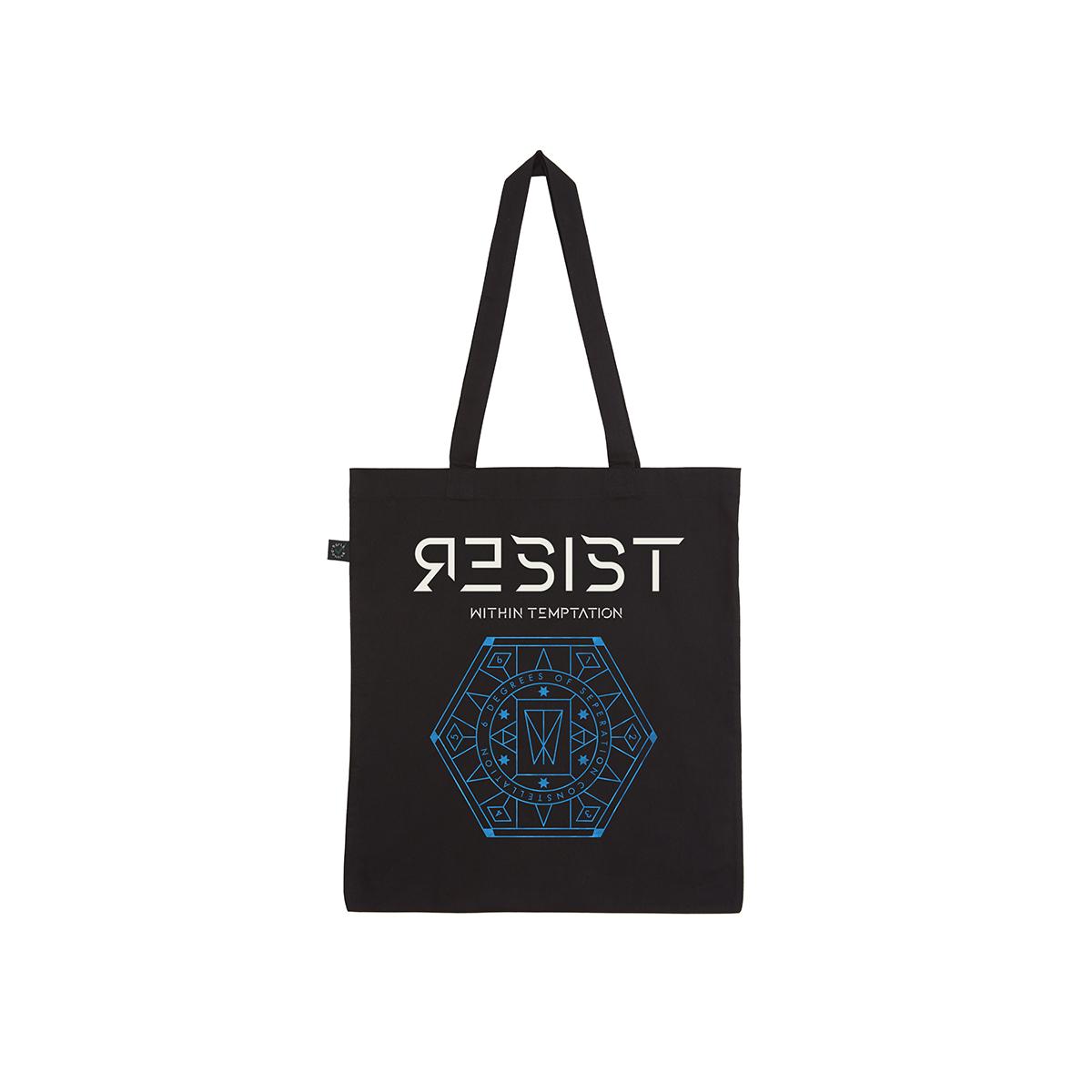 Resist Hexagon Logo – Organic Tote Bag - Within Temptation
