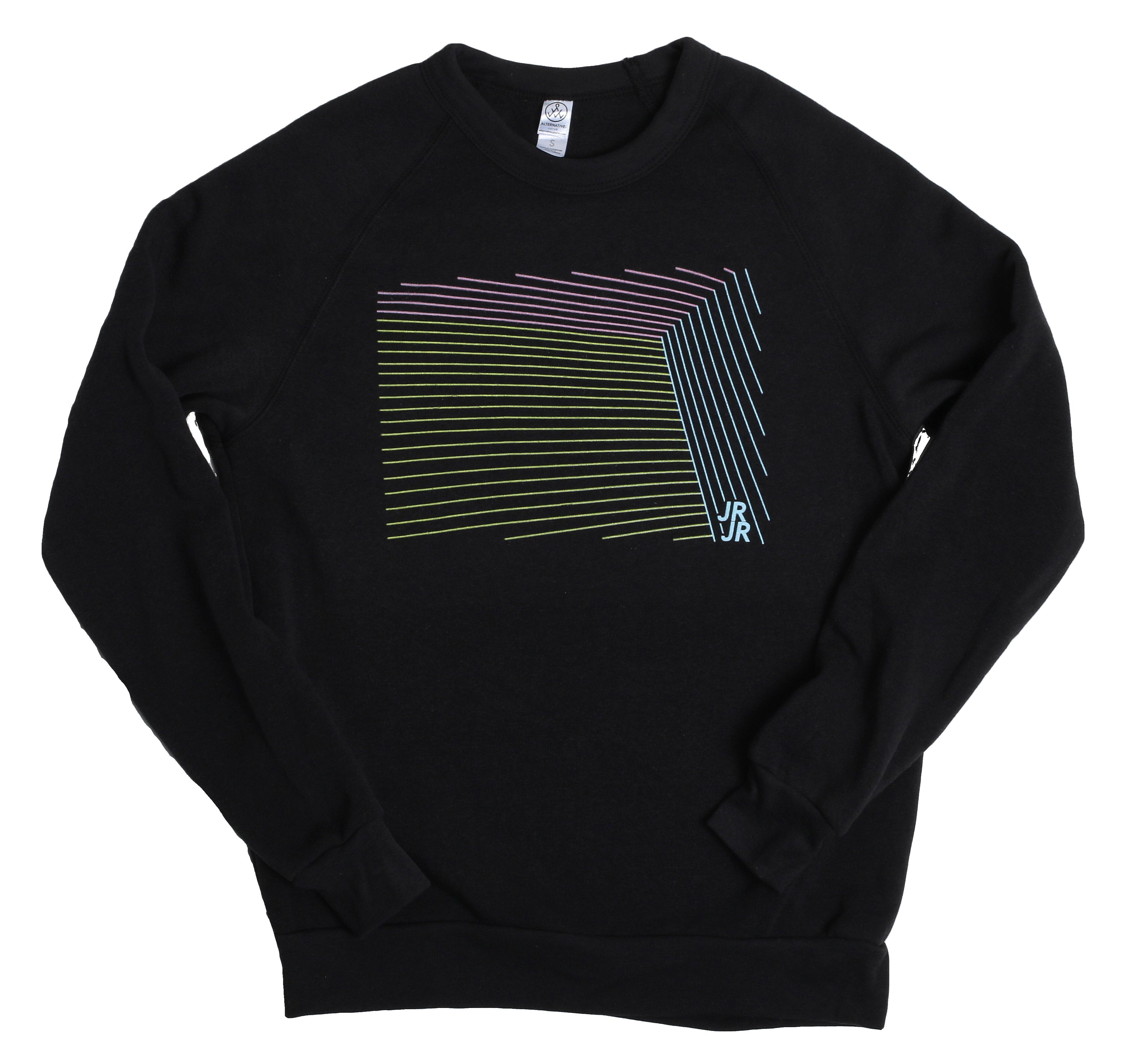 JR JR Lines Black Sweatshirt - JR JR