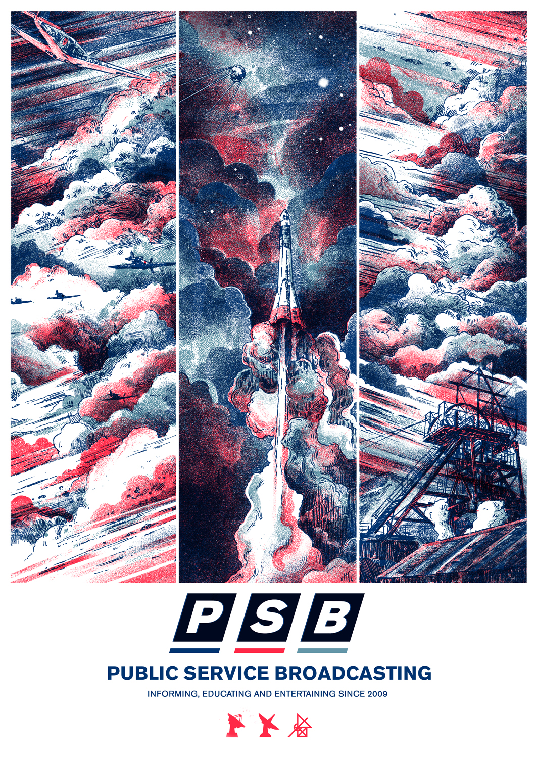 Limited Edition PSB Screen Print! - PUBLIC SERVICE BROADCASTING