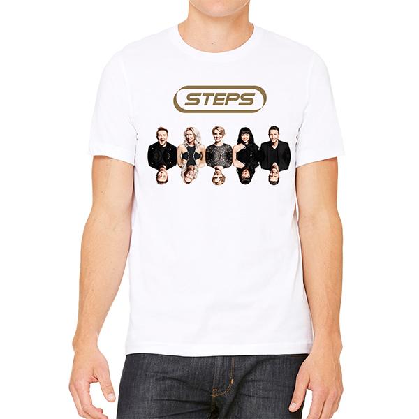 Steps Album Date Back White T-Shirt - Steps [Global UK]