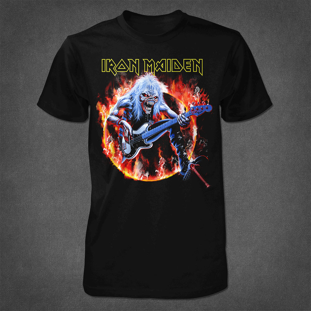 Fear Live Flames Men's Tee - Iron Maiden [Global USA]