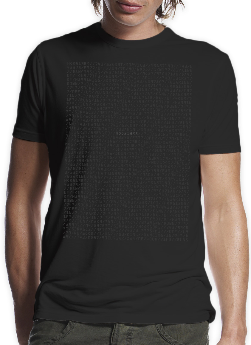 Secret Service Decoder T-Shirt - The Hoosiers