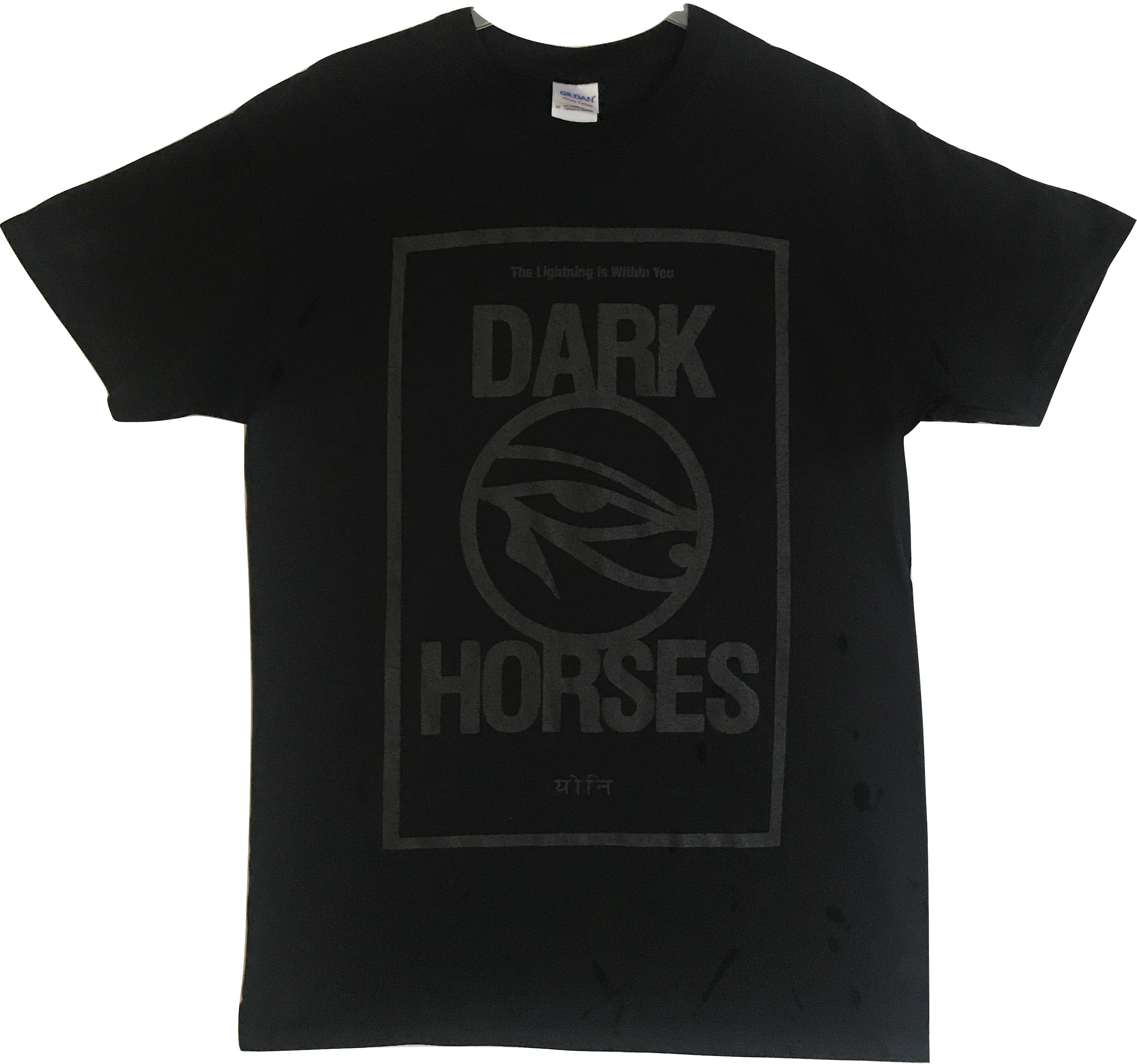 Dark Horses T-shirt - black on black - Dark Horses