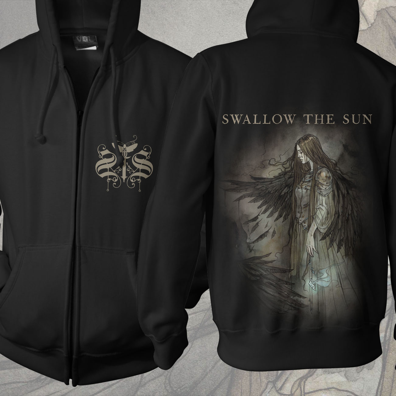 Swallow The Sun - 'Wings' Zip Hoodie - Swallow The Sun