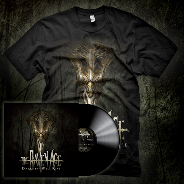 'Darkness Will Rise' Vinyl & T-Shirt Pack - The Raven Age