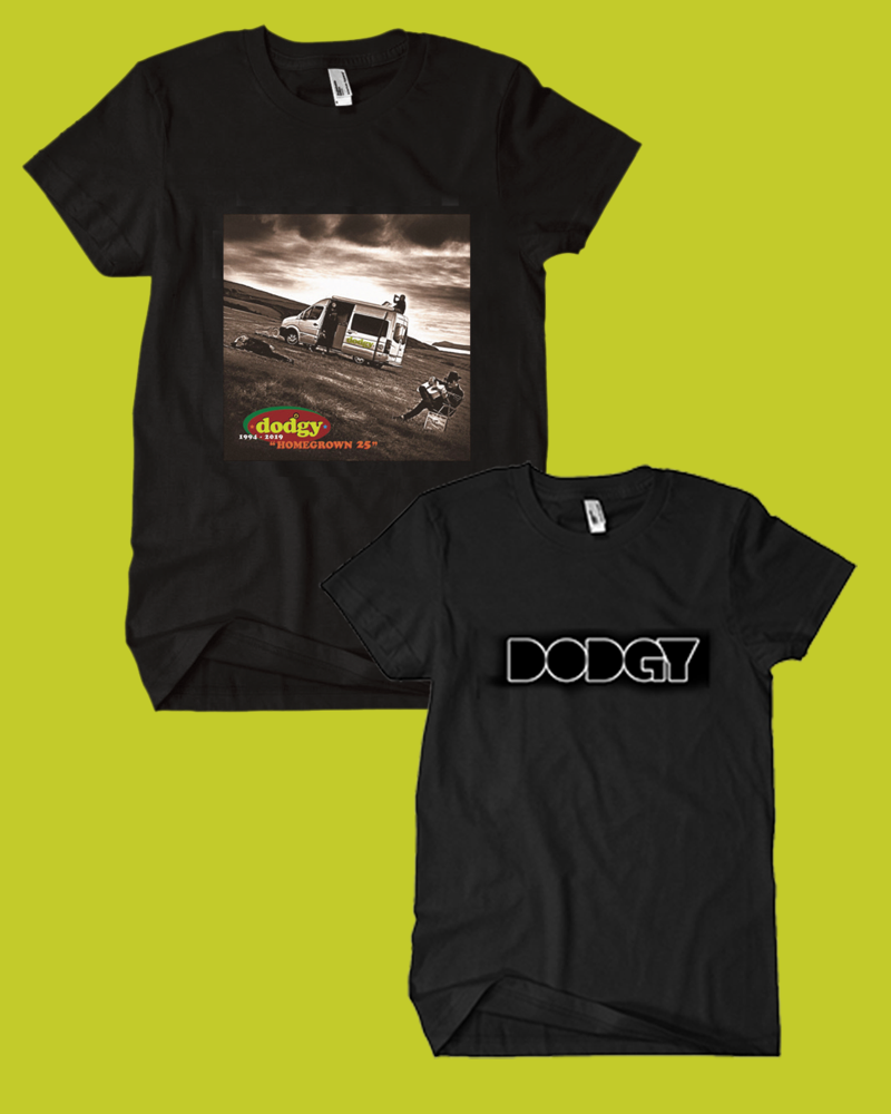 Bundle package of the  Dodgy Homegrown t-shirt and logo t-shirt in black - Dodgy