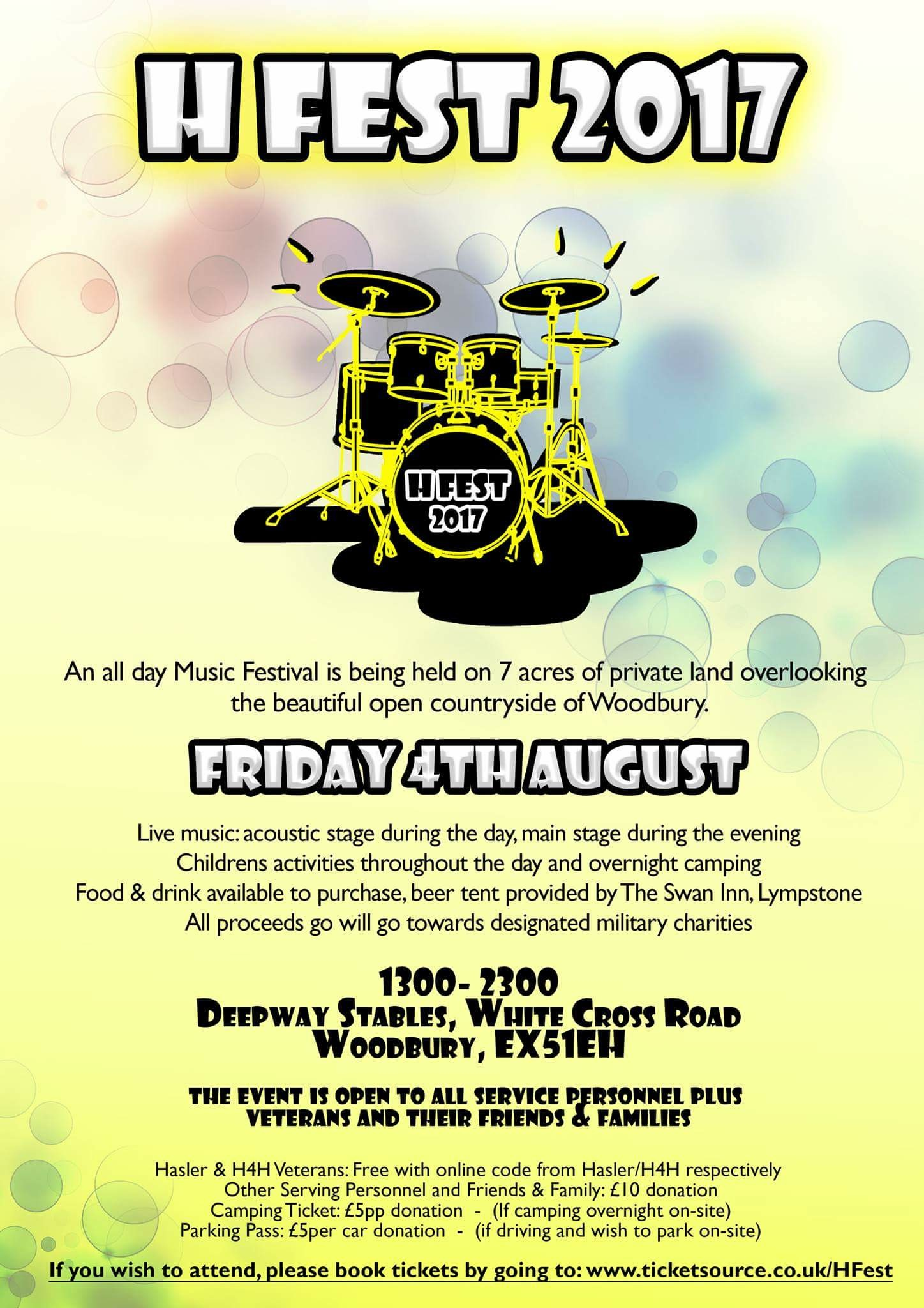 H Fest at Woodbury Common, Exmouth on 04 Aug 2017