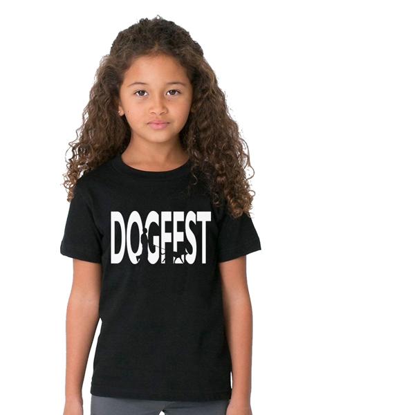 """Dogfest """"Dogwalker"""" Kids Blk Tee - Dogfest"""