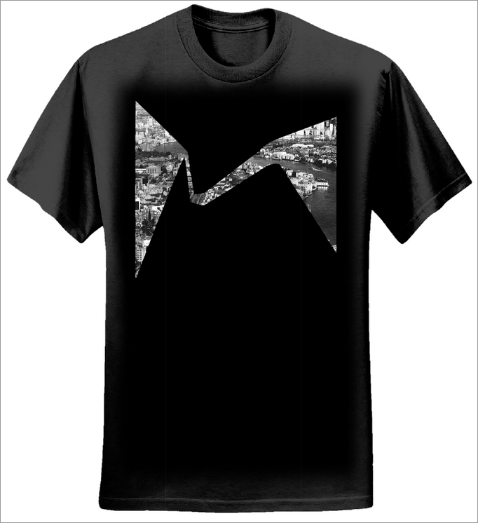 City Black T-shirt - Sunflower Records