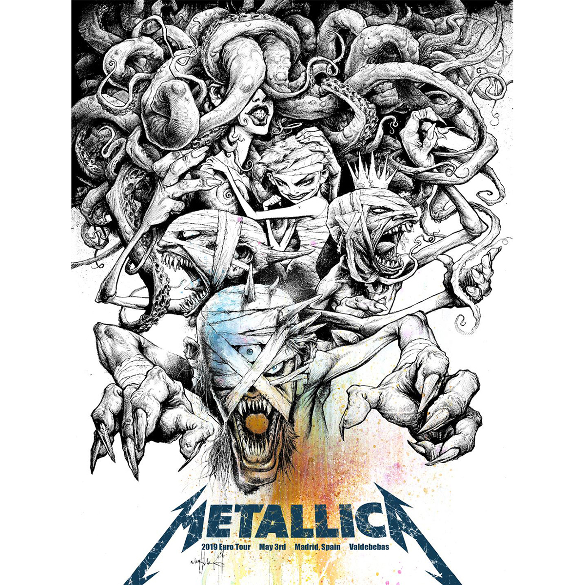 Madrid May 3rd – Limited Edition Numbered Screen Printed Event Poster - Metallica