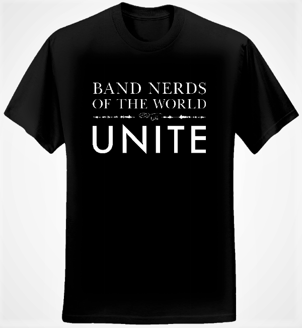 Band Nerds of the World Unite T-shirt (Men/Black) - Eric Whitacre