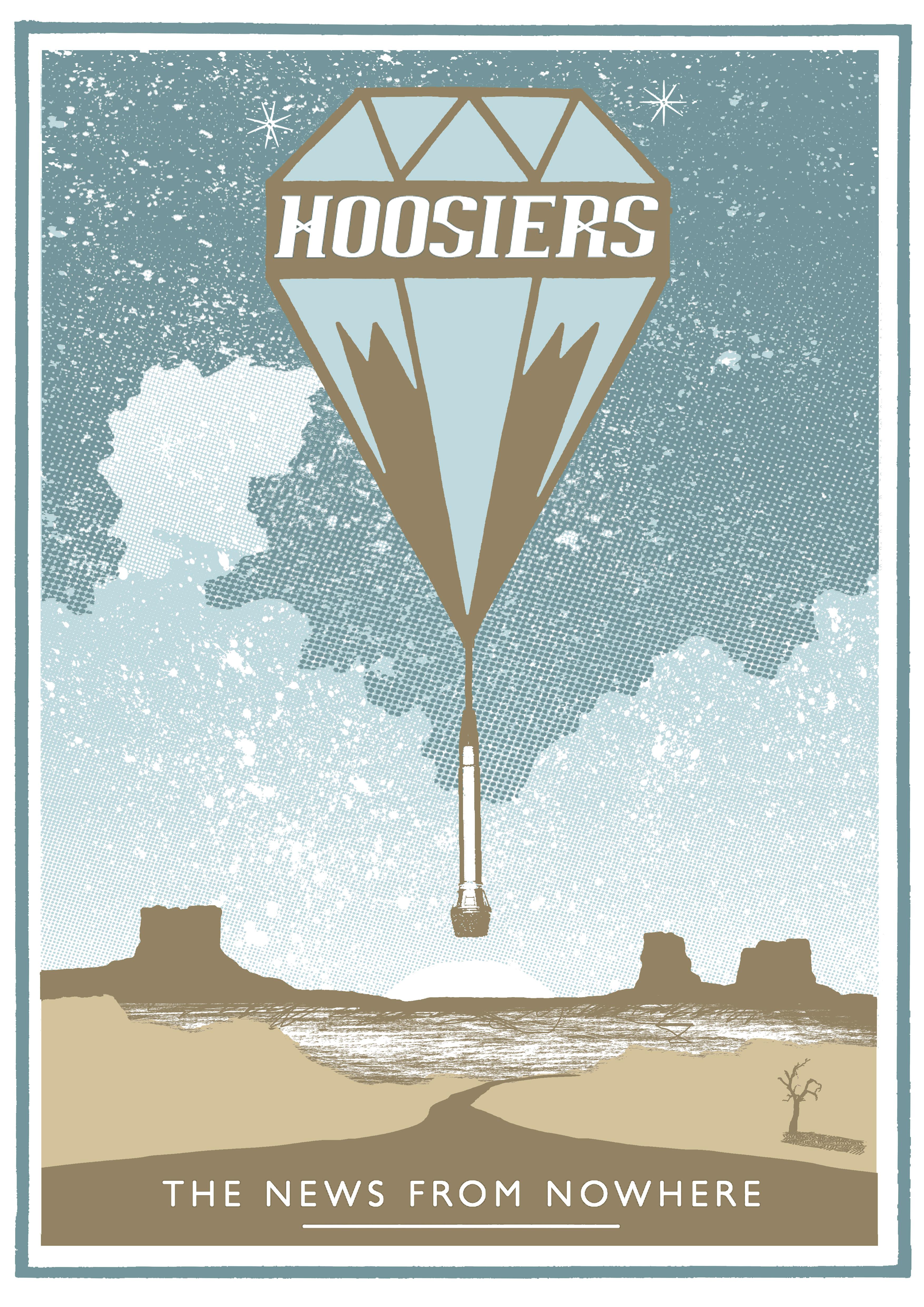 NFNW Desert Hand-printed Poster - The Hoosiers