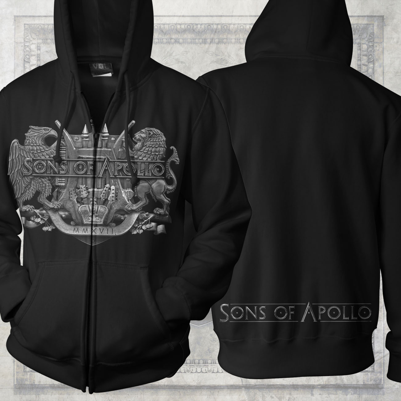 Sons of Apollo - 'Crest' Zipped Hoody - Sons of Apollo