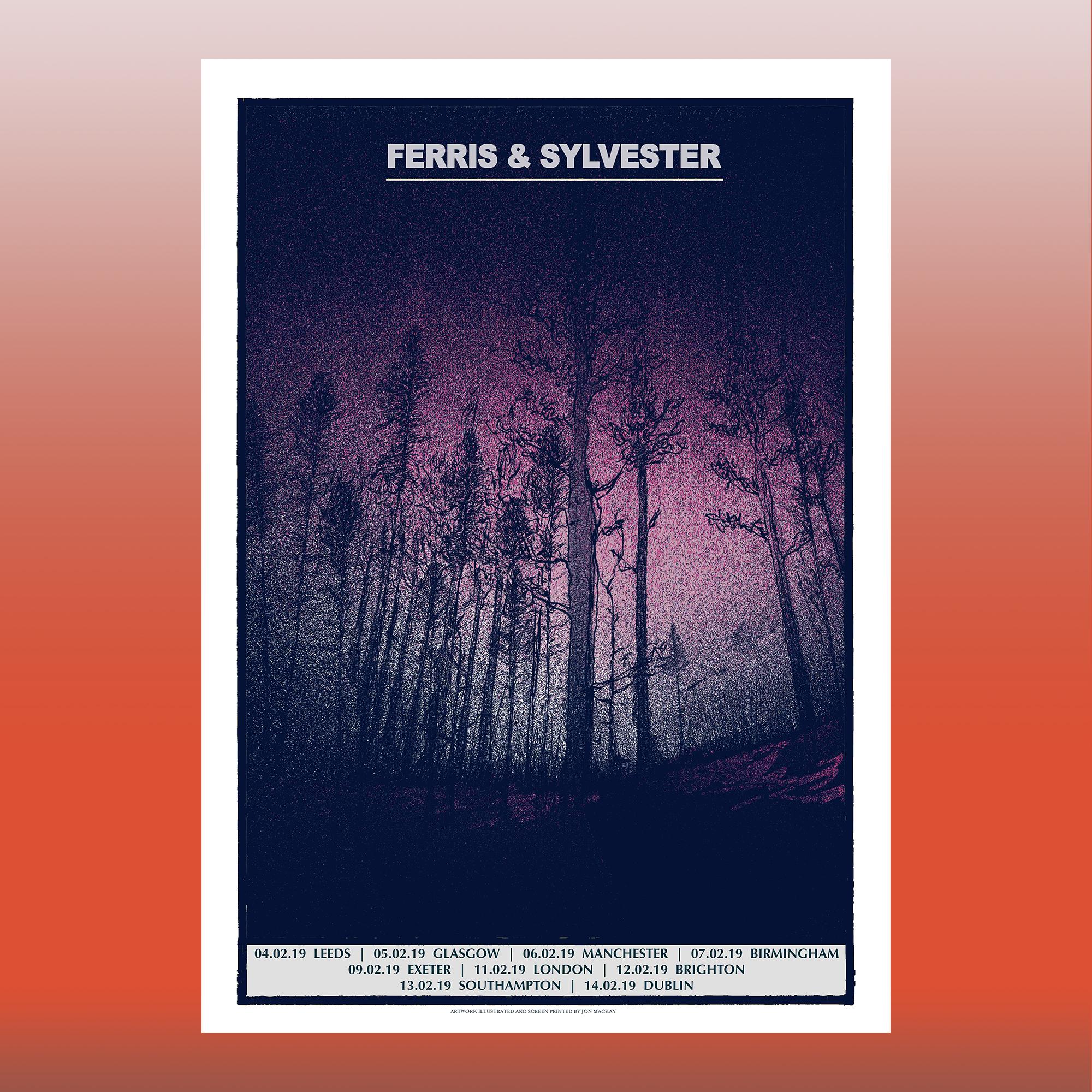 Limited Edition Tour Prints by Jon Mackay - Ferris & Sylvester