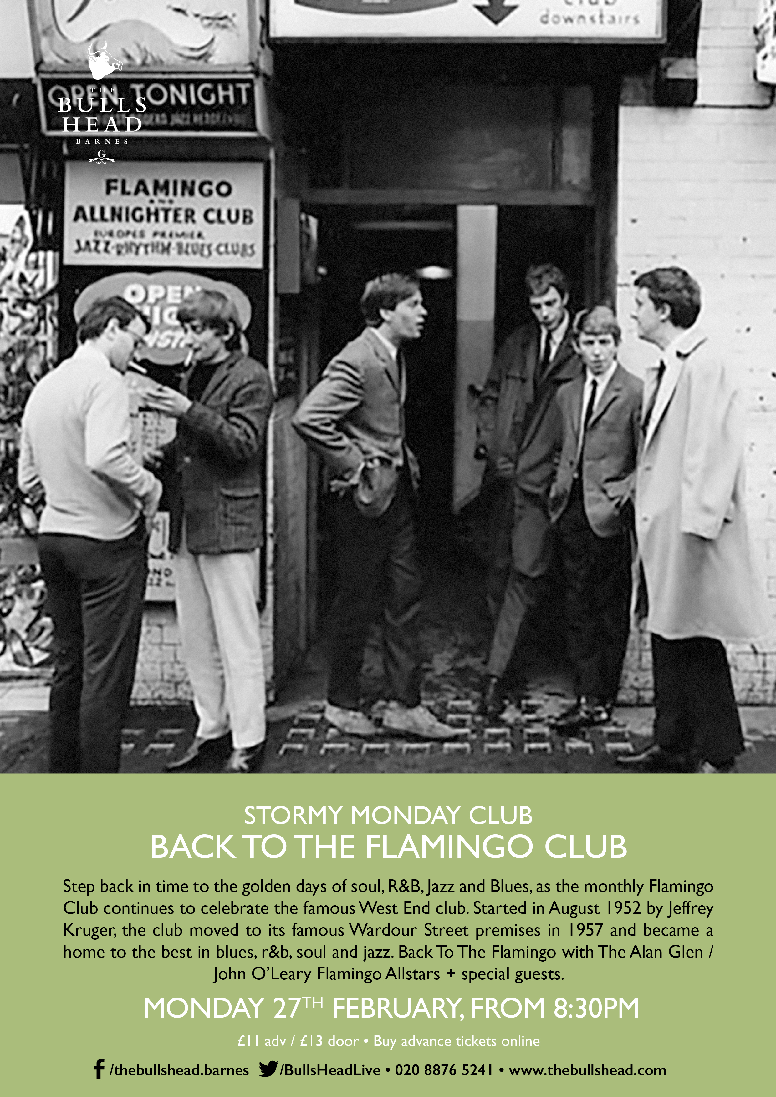 Stormy Monday Club Present Back To The Flamingo Club With Alan Glen and John O'Leary