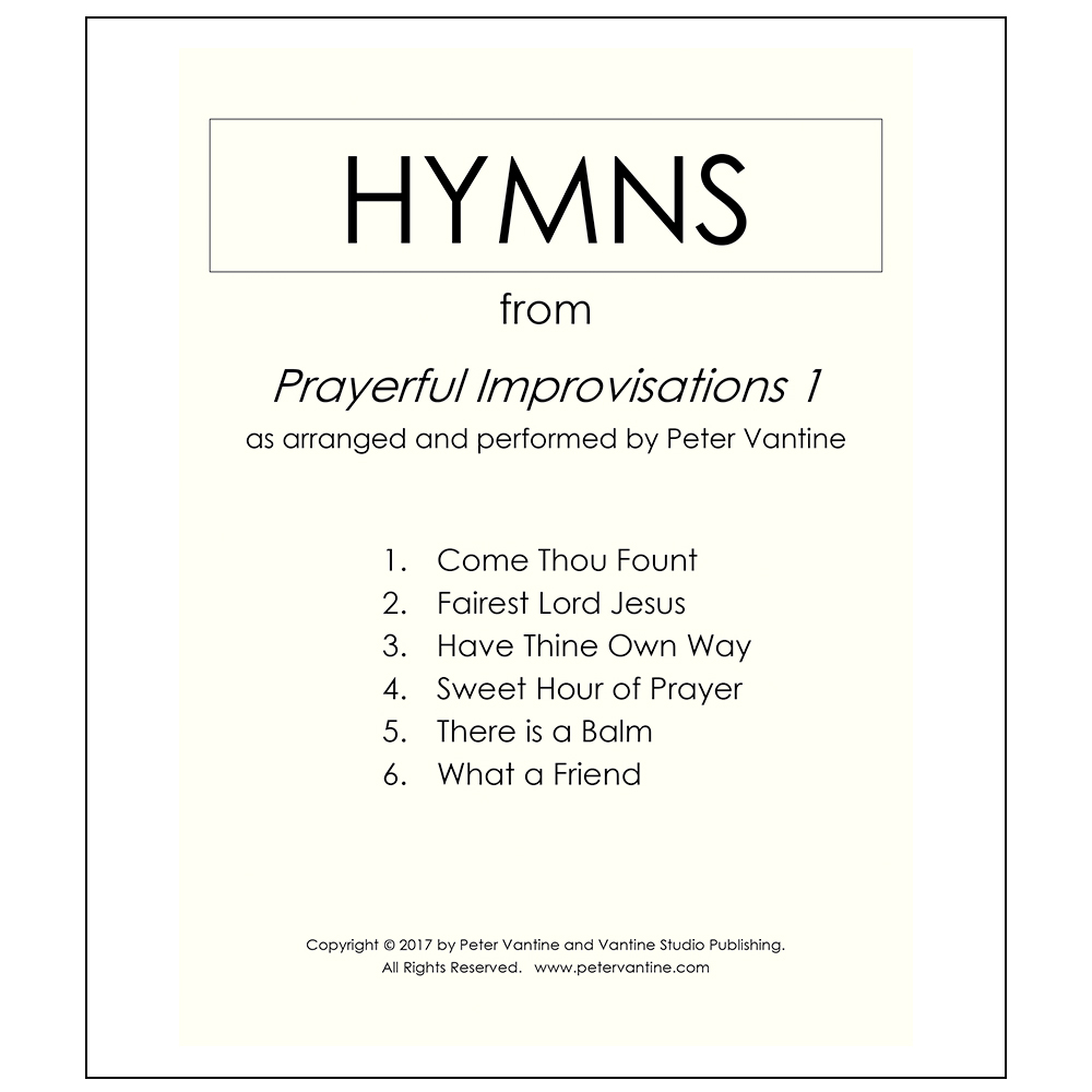Hymns Collection #1 (sheet music download) - Peter Vantine