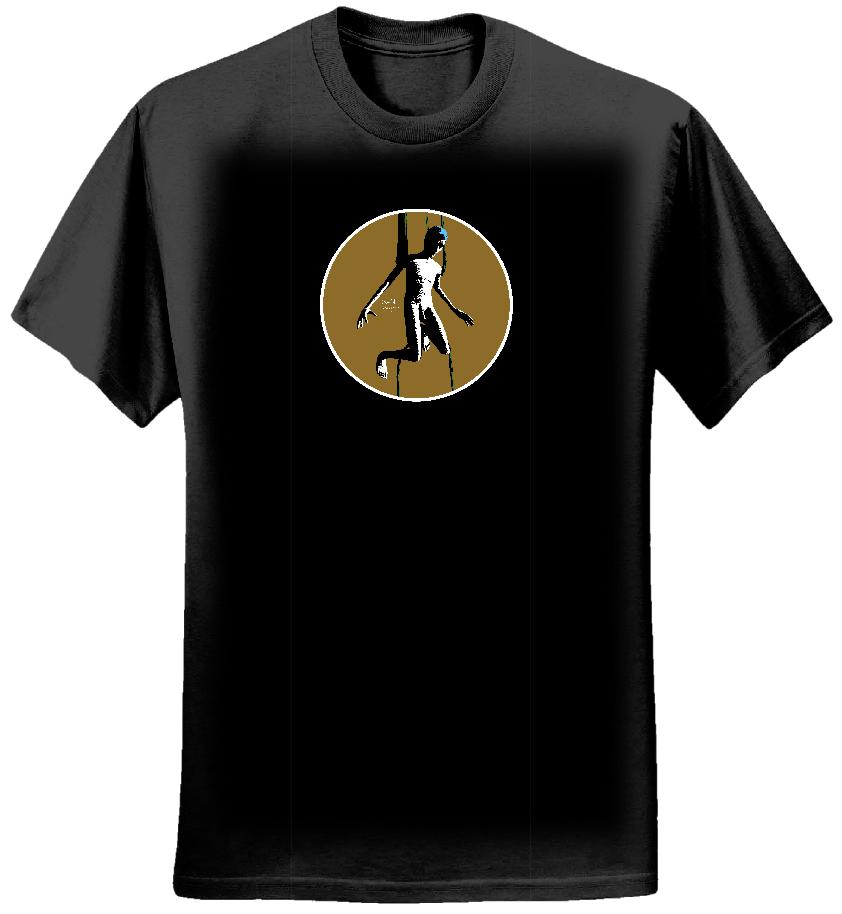 ASJA t-shirt (black, men's, circle) - Sand