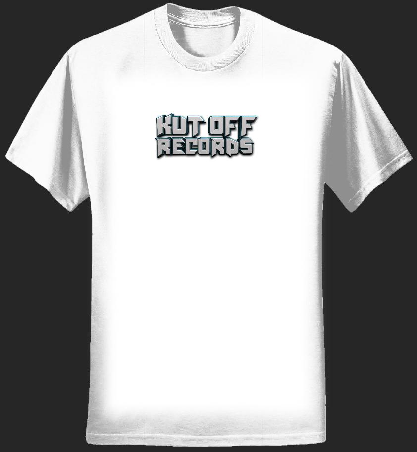 Woman's White Kut Off Logo T-Shirt - KUT OFF RECORDS
